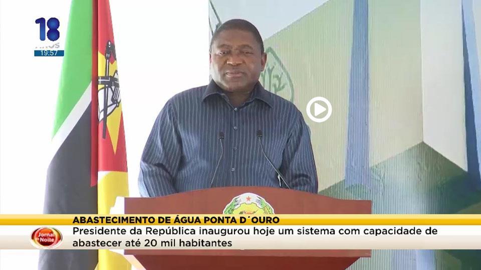 Abastecimento de água Ponta D´Ouro, Presidente da República inaugurou hoje um sistema com capacidade de abastecer até 20 mil habitantes